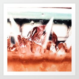 melting ice in a glass Art Print