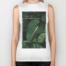 Tropical Leaves Biker Tank