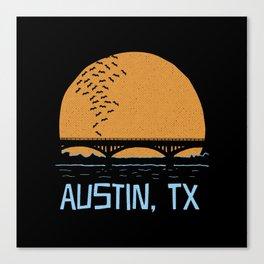 Austin Texas Bat Bridge Canvas Print