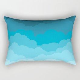 Gradient Clouds Rectangular Pillow