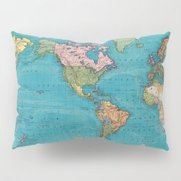 Vintage Map of The World (1897) Pillow Sham