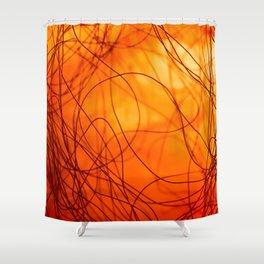 Hot fire Shower Curtain