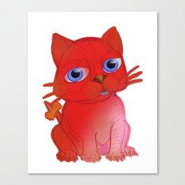 My Red Vanda Cat Pet Canvas Print
