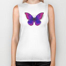 Tricolored Butterfly Biker Tank
