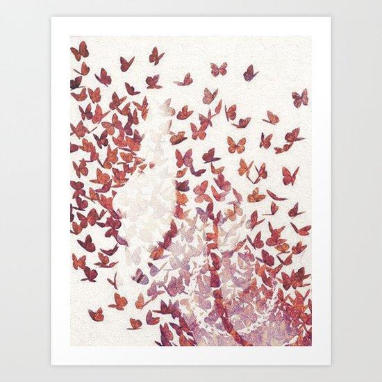 Butterfly People 4 Art Print