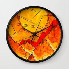 Bonfire Mountains Wall Clock
