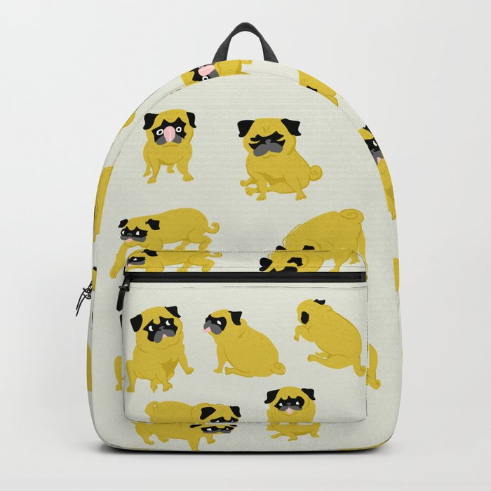 Good Vibes With Nasty The Pug Backpack