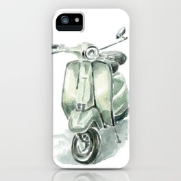 Mint Vespa iPhone Case