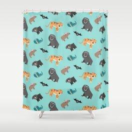 Jungle animals wilderness pattern tropics tropical Shower Curtain