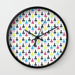 CMYK Afro Pick Wall Clock