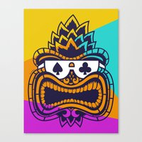 tiki Canvas Prints featuring Tiki by Lorenzo Pinna