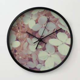 White Flower Bush Wall Clock