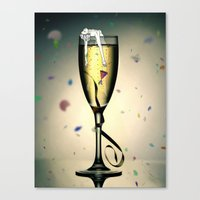 champagne Canvas Prints featuring Champagne by CokecinL