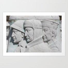 Stone Faces Art Print