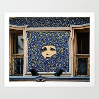 "Paris Urban Photography, ""Paris Mosaic"" Large Art Print, Travel Wall Art, Living Room Fine Art Art Print"