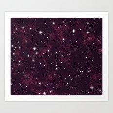 Burgundy Space Art Print