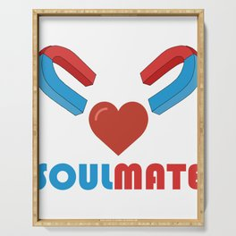 Show your endless infinite love Soulmate T-Shirt Soulmates Serving Tray