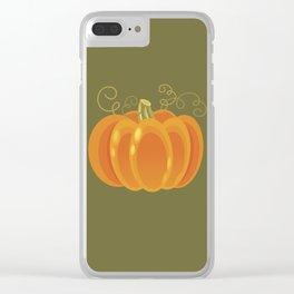 Pumpkin Clear iPhone Case