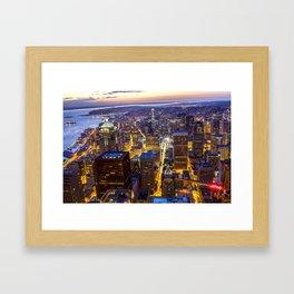 Downtown Seattle Framed Art Print