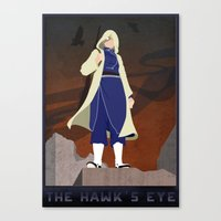 fullmetal alchemist Canvas Prints featuring Fullmetal Alchemist - The Hawk's Eye by Monica McClain