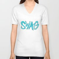 swag V-neck T-shirts featuring Swag by Creo