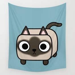 Cat Loaf - Siamese Kitty with Crossed Eyes Wall Tapestry