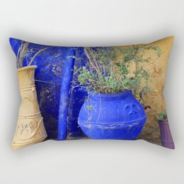 Three Flowerpots Rectangular Pillow