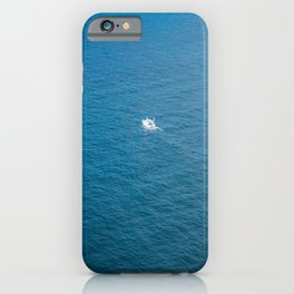 Yachts on the Atlantic ocean, deep blue water and sky iPhone Case