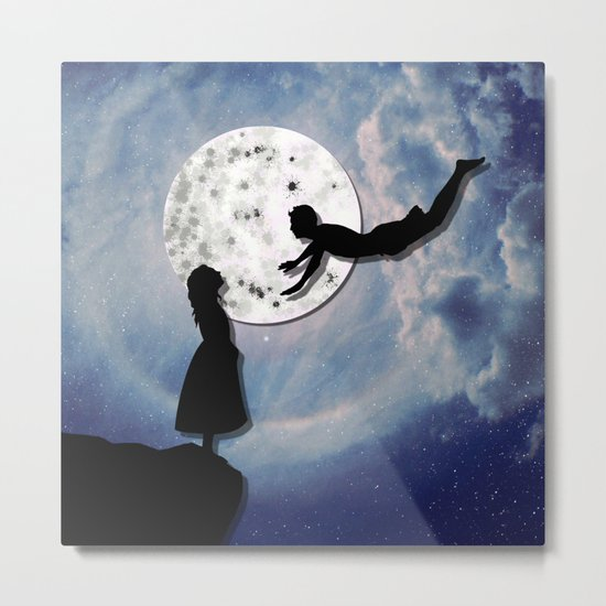 fly me to the moon 2 Metal Print