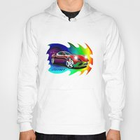 ferrari Hoodies featuring Ferrari by JT Digital Art