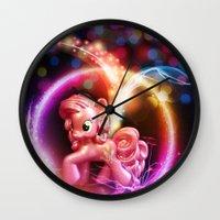 jenny liz rome Wall Clocks featuring Jenny by Autumn Steam