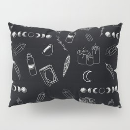 Witchy Stuff Black Pillow Sham