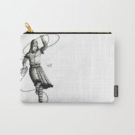 B&W Scythian Woman of Wonder Carry-All Pouch