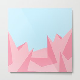 Cotton Candy Fractals Metal Print