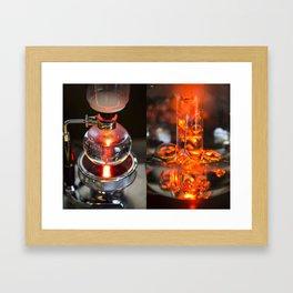 Syphon coffee Framed Art Print