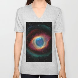Helix (Eye of God) Nebula Unisex V-Neck