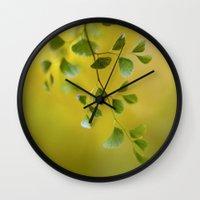 fern Wall Clocks featuring Fern by Mandy Disher