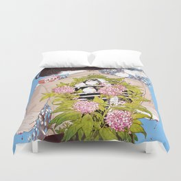 Strawberry Milk Duvet Cover