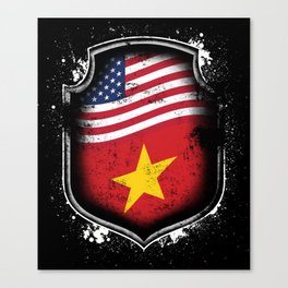 Vietnamese American Flag Canvas Print