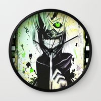 tokyo ghoul Wall Clocks featuring GHOUL by shannon's art space