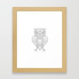 Hops and Barley Owl Celtic Knotwork Framed Art Print