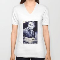 johnny depp V-neck T-shirts featuring Johnny Depp by Matteo Felloni Artista