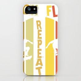 Kick Flip Repeat Skater Tricks Halfpipe Gift iPhone Case