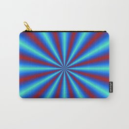 Red and Blue Pleats Carry-All Pouch