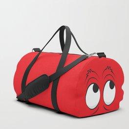Monster Eyes Red Duffle Bag
