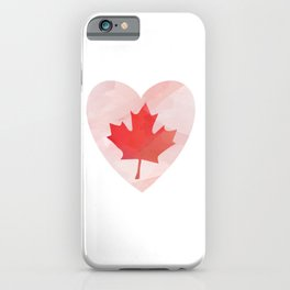 Canada Lover Love Canada Canadian People Mapple Leaf Heart design iPhone Case