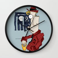 drink Wall Clocks featuring DRINK by Ivano Nazeri