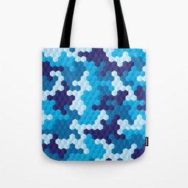 CUBOUFLAGE BLUE Tote Bag