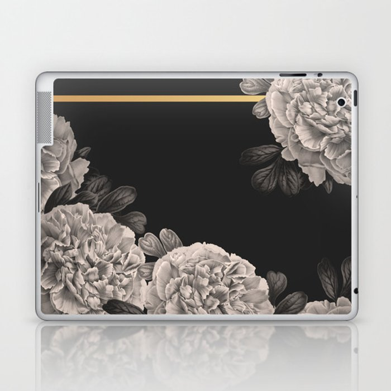 Flowers on a winter night Laptop & iPad Skin