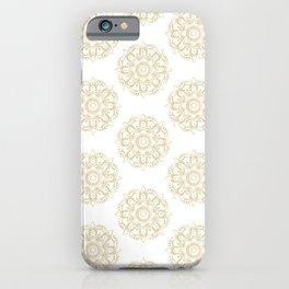 Mandala Gold Pattern iPhone Case